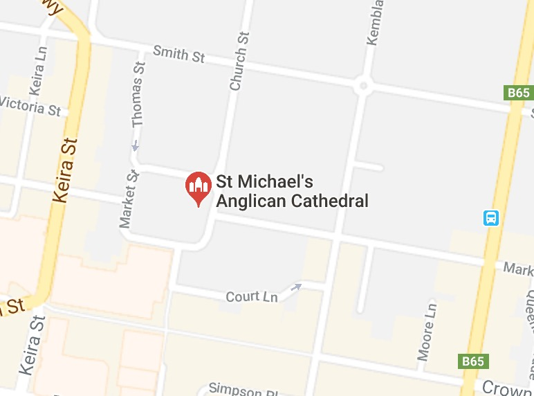 Map of Wollongong Anglican church location