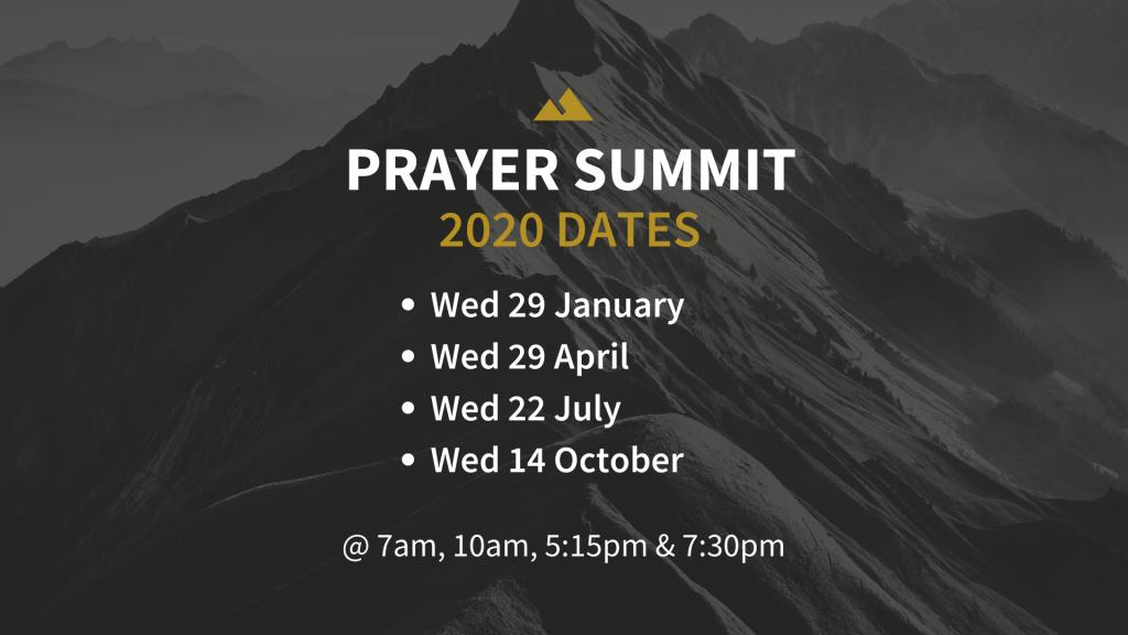 Prayer Summit 2020 dates