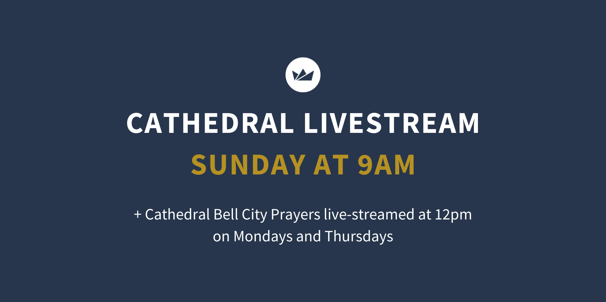 Online Church services cathedral livestream at St Michael's